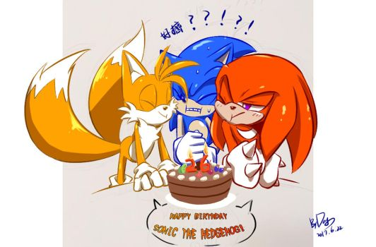 Happy birthday SONIC 2017 by amberday