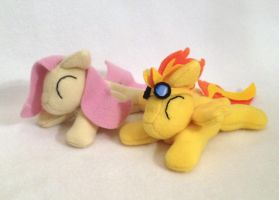 Fluttershy and Spitfire beanie plushie by Bewareofkitty