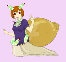 Luci the Zombie Snail Monster Girl (revisited) by The-Episiarch
