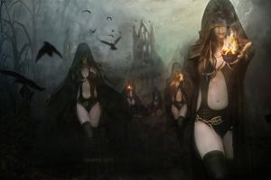 Sisters Of Night by Manink