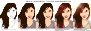 Step by Step How I Create a Vector Portrait by bakawanzone