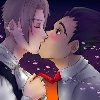 Phoenix x Edgeworth by uberchicken
