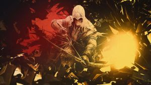 connor abstract wallpaper assassins creed III by Mrbarclonista