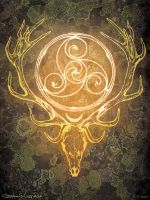 Stag Lord by bonegoddess