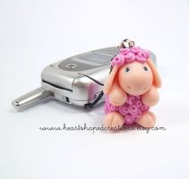 Molly The Sheep Mobile Charm by HeartshapedCreations