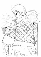 Gaara as Akatsuki - lineart by Quiss