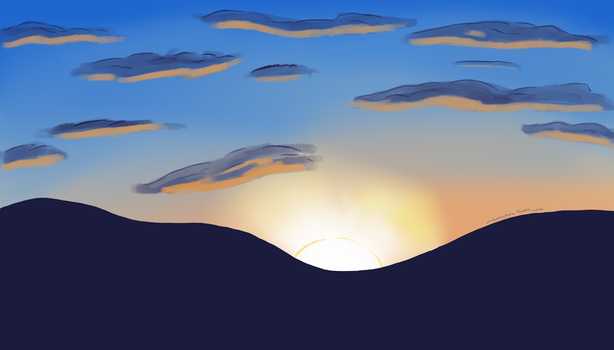 Background Practice #1 - Sunrise by DJRainbowMagica