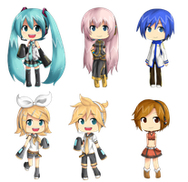 Vocaloid Chibis by lolitaii