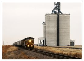 Hotshot Eastbound Grain by factorone33