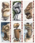 RETURN OF THE JEDI WideVision SketchCards by Erik-Maell