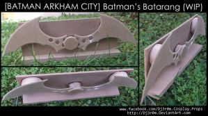 [BATMAN ARKHAM CITY] Batman's Batarang (WIP) by Dj3r0m