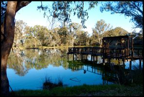 Jetty on the Murray 1 by wildplaces