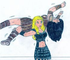 Torture Racking Xena by Jose-Ramiro