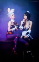 Bunny and Kitty by Nyandalee