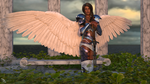 Winged Warrior by scifigiant