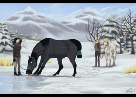 Mhmmm. Frozen Water-Get to know-Icy Dressage Event by CrackMonster