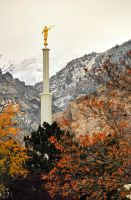 Provo Temple LDS utah Fall aut by houstonryan