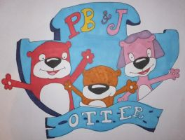 PB+J Otter Drawing by chloesmith8
