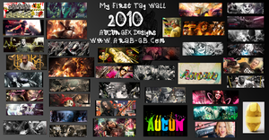 My 1 st Tag Wall by lahabz