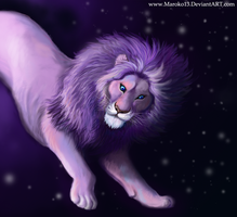Lion and stars by FuzzyMaro