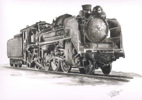 Steam locomotive by IlRienzi