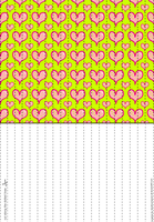 Hearts 4 Lucky Paper Stars paper by Heisotsu