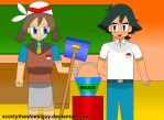 Ash and May Get's Janitor at the School by scottytheshieldguy