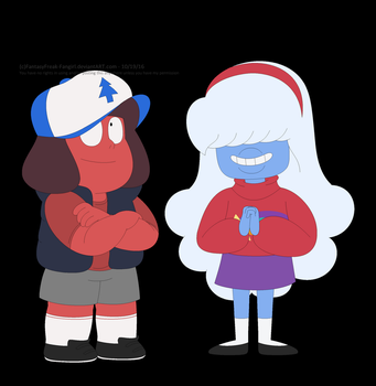 Pine Ruby and Shooting Sapphire by FantasyFreak-FanGirl