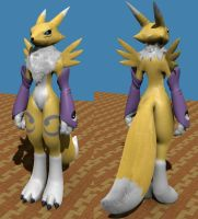 Renamon Fur by LordOfDragons