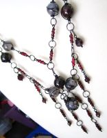 Modern Goth Necklace full view by sancha310sp