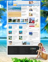 Travel agency Site mock up by pcpsk59