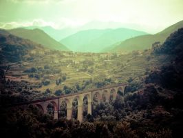 Viaduct in Italy 2 by slcrawford