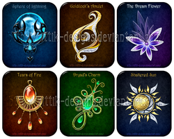 Magic items set (5) by Rittik-Designs