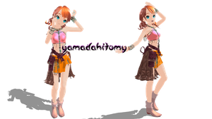 MMD Vanilla Final Fantasy by yamadahitomy