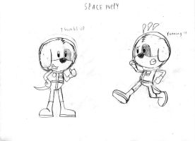 Space Puppy Art of Animation by LordRobrainiac