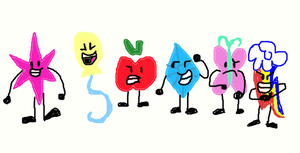 Mane 6 cutie marks as bfdi/inanimate insanity by Luissalazar57857