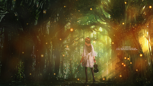 [Test] [Wall] Violinist in the forest by Miinow-Chan