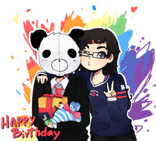 HAPPY BIRTHDAY PANDA by Bananaproduction