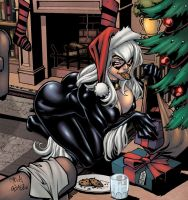 X-mass Black Cat by logicfun