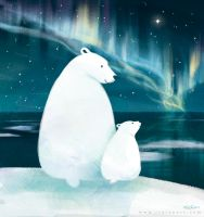 Polar Bears by Rinian