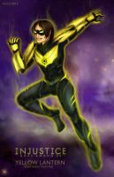 injustice:gau  damian wayne as yellow lantern by NarciSSai