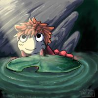 Ponyo in the pond by TeaDino