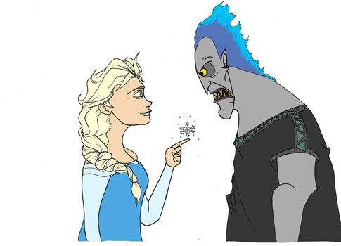 Elsa and Hades by DHamienH