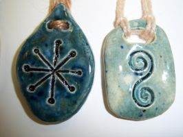 Rune Pendants III by Bardagh