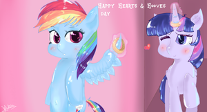 Happy hearts and hooves day - twidash by MrsCurlyStyles