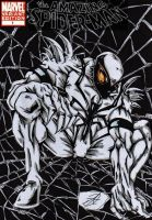anti venom spiderman cover by darkartistdomain