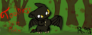 Chibi Toothless by immortalf0x