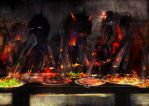 Feeding time in hell by robinweatherall