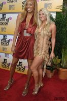 Monica Arnold and Brooke Hogan by lowerrider