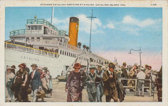 Vintage Los Angeles - SS Catalina Steamer, Avalon by Yesterdays-Paper